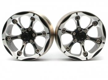 Boom Racing CHROMA? 1.9 High Mass Beadlock Aluminum Wheels Spoke-6 (2) Black [RECON G6 The Fix Certified]