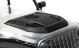 1/10 Engine Cover Black for Axial SCX10 Jeep Wrangler Body