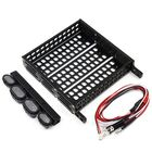 RC Rock Crawler Accessories Aluminum Luggage Tray with 4 White Light 1/10