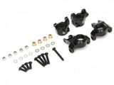 Aluminum AR44 Steering Knuckle and C-Hub Carrier Set Black for SCX10 II