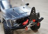 Metal Front Bumper with Winch Mount Shackles for Axial SCX10 II