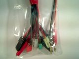 4.0mm to Deans/Futaba/JST/Tamiya/micro Tamiya/MPX/TRX/Clip/DIY extra wire             <br>16AWG 30cm silicone wire