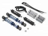 Team Raffee Co. Aluminum Adjustable Piggyback Double Spring Shocks 90MM (2) for Crawlers Black
