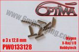 Pin for shaft replacement - 3 x 12,8mm (10) Xray/MBX