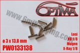 Pin for shaft replacement - 3 x 13,8mm (10) HB Racing / Xray / MBX