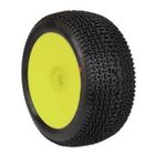 1:8 Truggy City Block Soft pre-mounted tyres (Yellow Wheel)