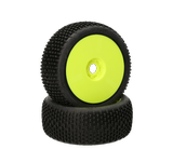 HB Khaos Mounted Tire (White/Yellow Wheel/1:8 Buggy)