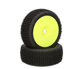 HB Megagrid Mounted Tire (White/Yellow Wheel/1:8 Buggy)