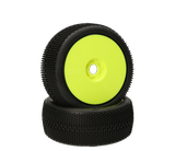 HB Megabite Mounted Tire (White/Yellow Wheel/1:8 Buggy)
