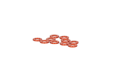 Washer 2x4x0.5mm (Orange/10pcs)