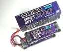 Super Duty 3000 7,2V Stick NiMH (2 packs) w/Tamiya Plug 14 AWG
